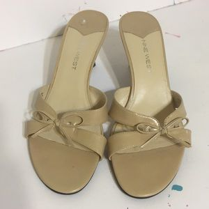 8 Nude Sandal Slide Nine West *worn